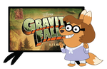 Claire watching Gravity falls