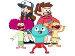 Gravity Falls Clouthing Swap With Harvey Beaks