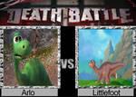 death battle Arlo Vs Littlefoot