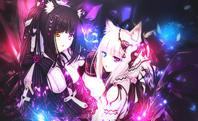 xMie [Graphics] Chocola_and_vanilla_by_xmie-d6osy5h