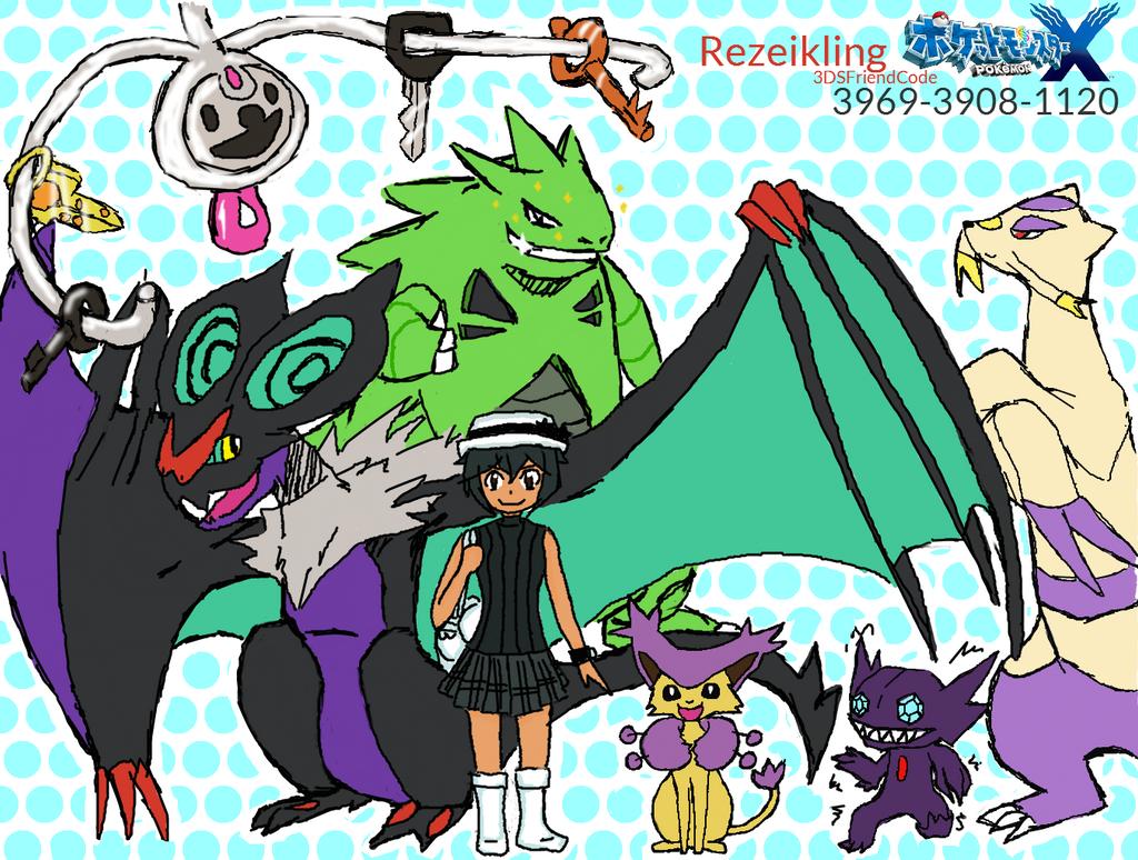Pokemon team REZ by rezeikling