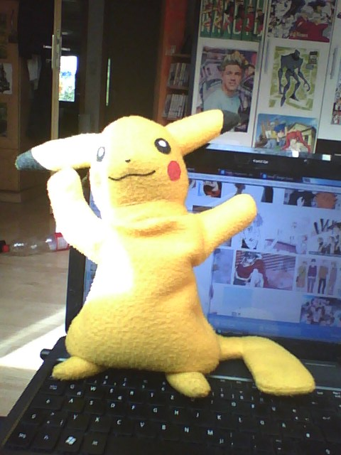 Pikachu plush by rezeikling