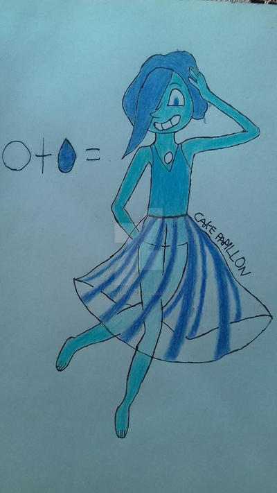 Lapis Lazuli and Blue Pearl fusion by CakePapillon