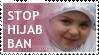 Stop Hijab Ban stamp by Muslim-Women