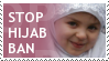 Stop Hijab Ban stamp by Muslim-Women