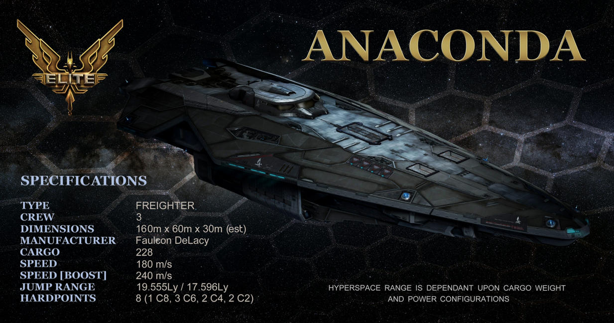 elite dangerous - anacondapenny-black on deviantart