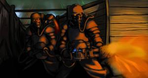 Death Korps flamer team