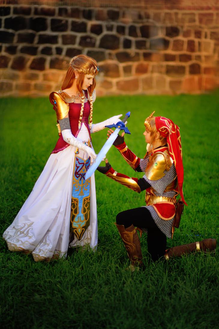 Zelda and Link 2 by neko-tin