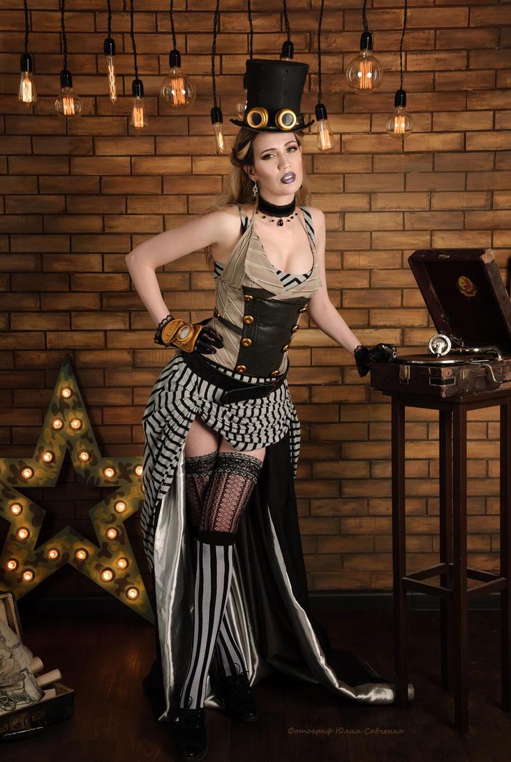 Steampunk lady 2 by neko-tin