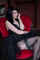 Zatanna black dress by neko-tin