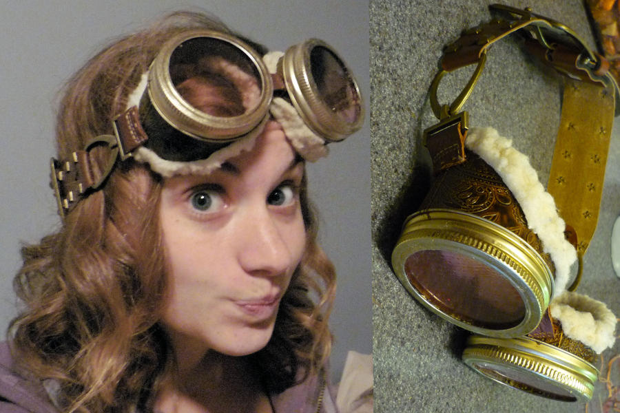 Steampunk Goggles - Earhart by colormecrazi
