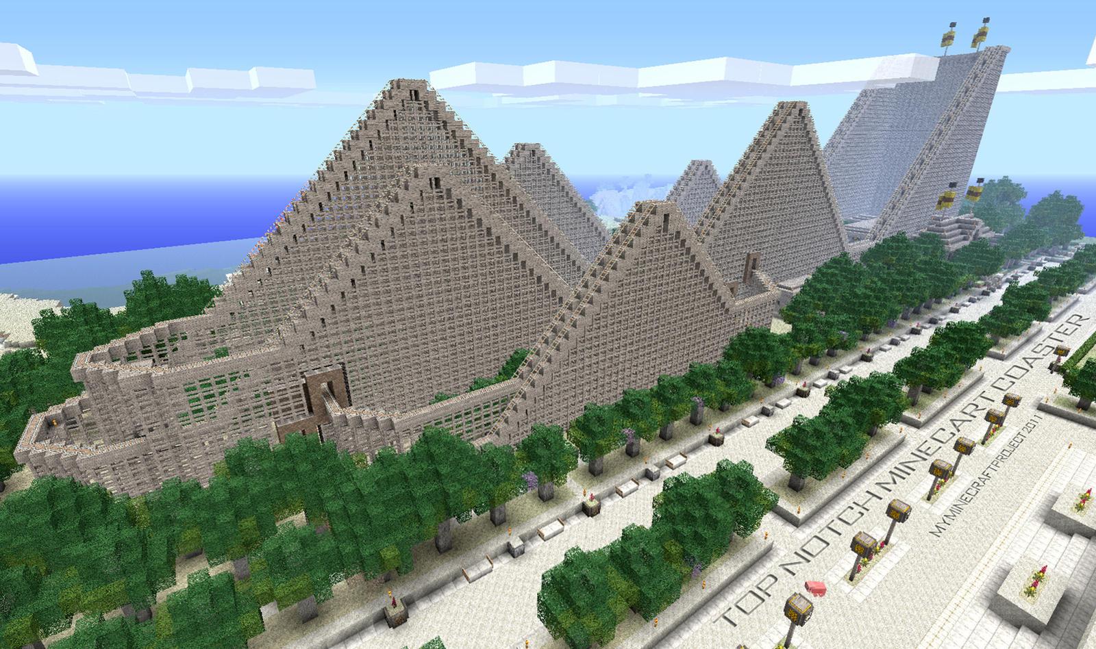 Minecraft Roller Coaster by poste744