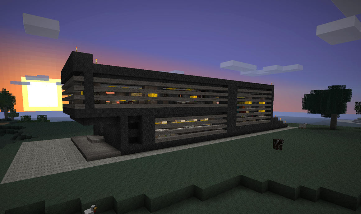 Minecraft simple modern house by poste744 on deviantart - Simple modern house minecraft ...