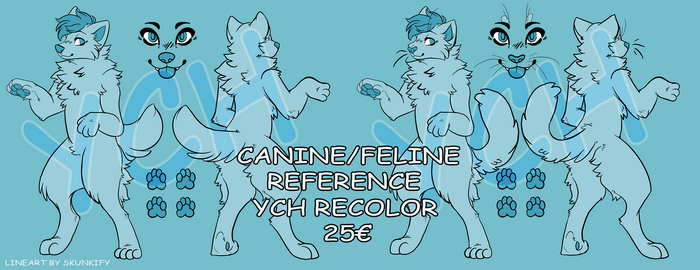 [YCH RECOLOR] Canine/Feline Reference