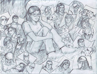 With Her Heroes by Borgy