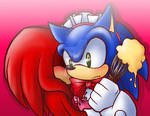 Sonic maidx Knux