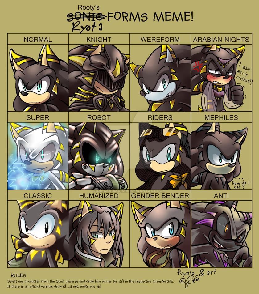 Sonic Forms: Sonic Forms Meme :Ryota: By Rilakkuma-kun On DeviantArt