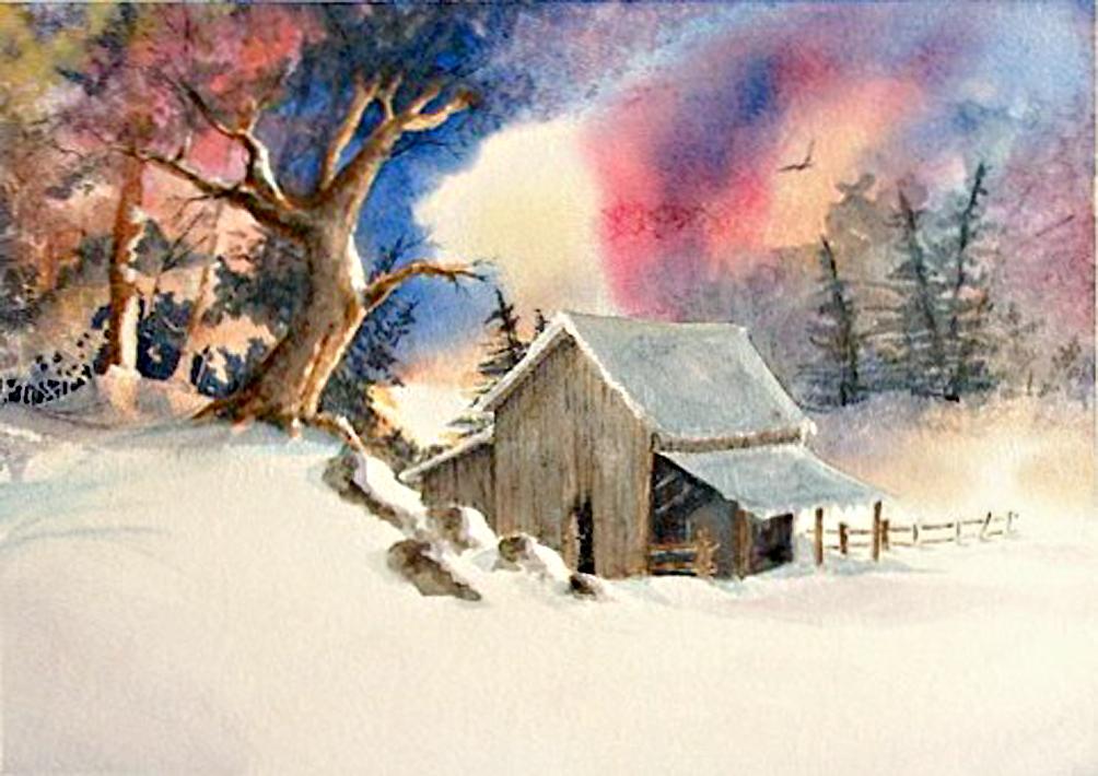 artemiche xmascard 7 Watercolor by Artemiche