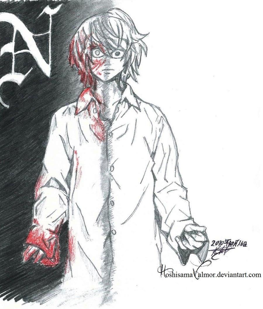 Bloody Near Death Note Fanart By HoshisamaValmor On DeviantArt