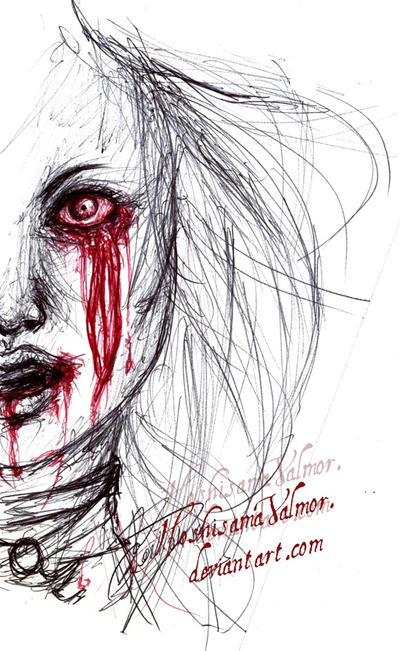 Hysteria Alice pen sketch by HoshisamaValmor