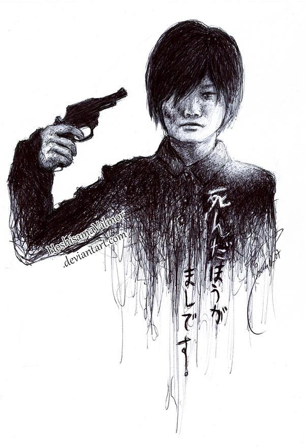 Henshin - Kamiki Ryunosuke pen sketch by HoshisamaValmor