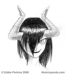 Devil girl quick sketch by EddiePerkins