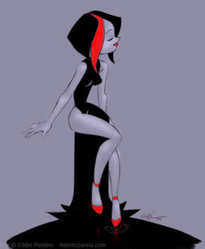 Black water dress