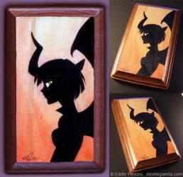 Devil Girl Silhouette 3-17-10 by EddiePerkins