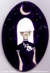 Haunted - Ghost girl painting by EddiePerkins