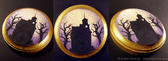Haunted House mini plaque by EddiePerkins