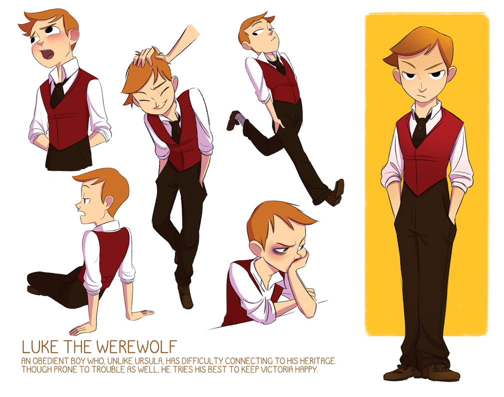 Character Design In Flash : Luke character sheet by tiuni on deviantart