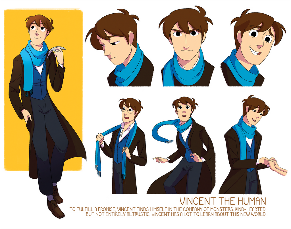 Character Design Vs Animation : Vincent character sheet by tiuni on deviantart