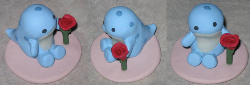 Quaggan Calf w/ Flower Statue