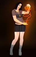 {My OC's} The Dragonkin: First Born (Elita) by BleedingPixels98