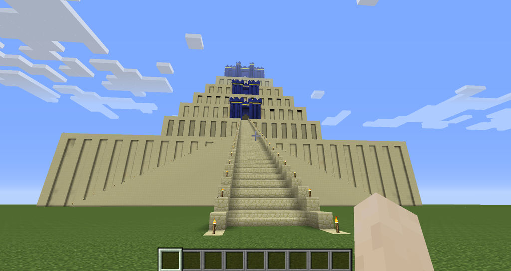 Tower Of Babel Etemenanki Minecraft By 4bhart On Deviantart