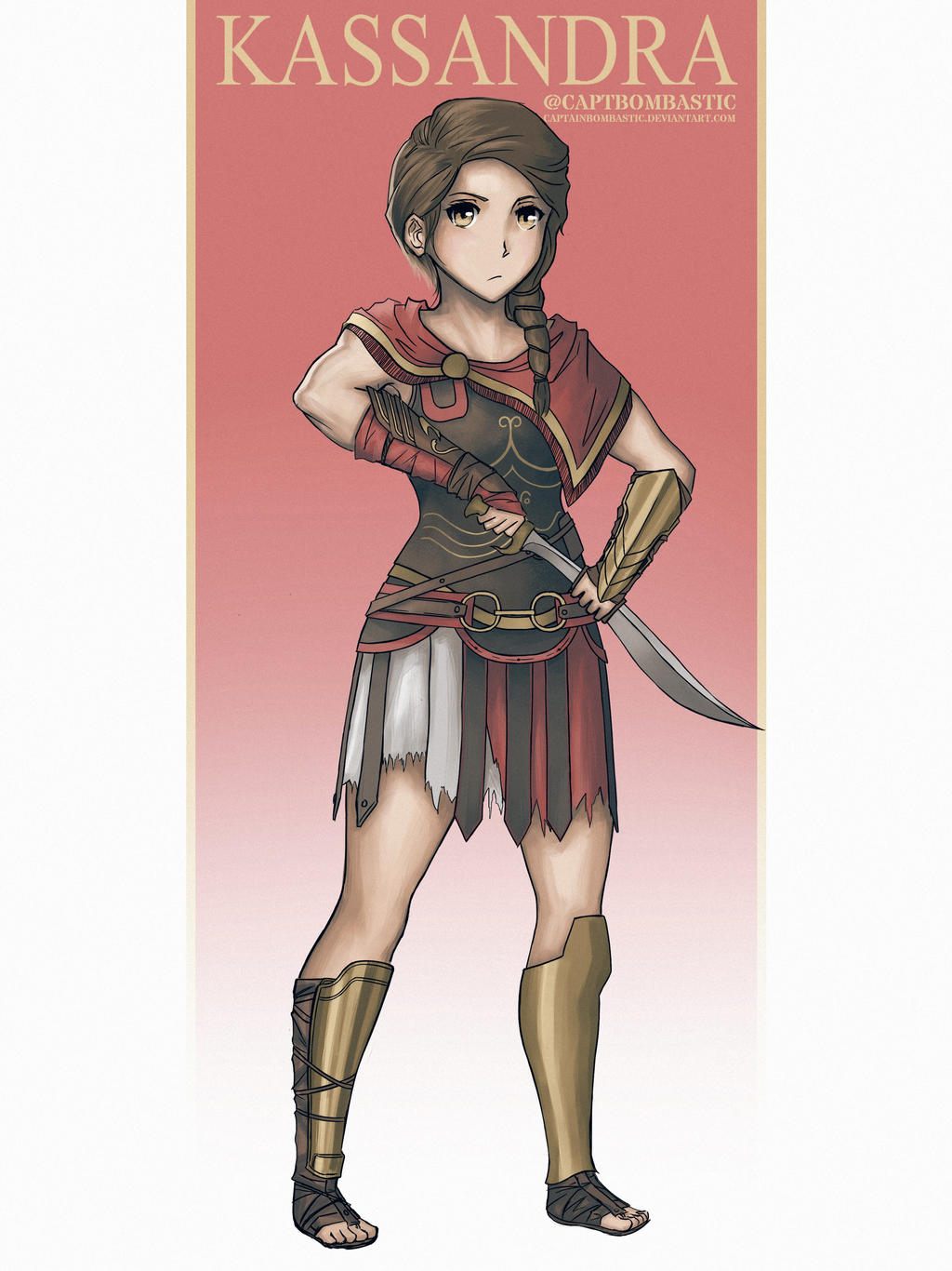 Assassins Creed Odyssey Kassandra By Captainbombastic On Deviantart
