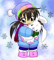 Snow bunny by Ianthe