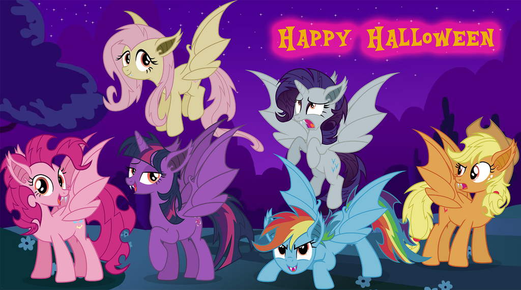 FANMADE - Bat Mane Six - Happy Halloween by 24-1