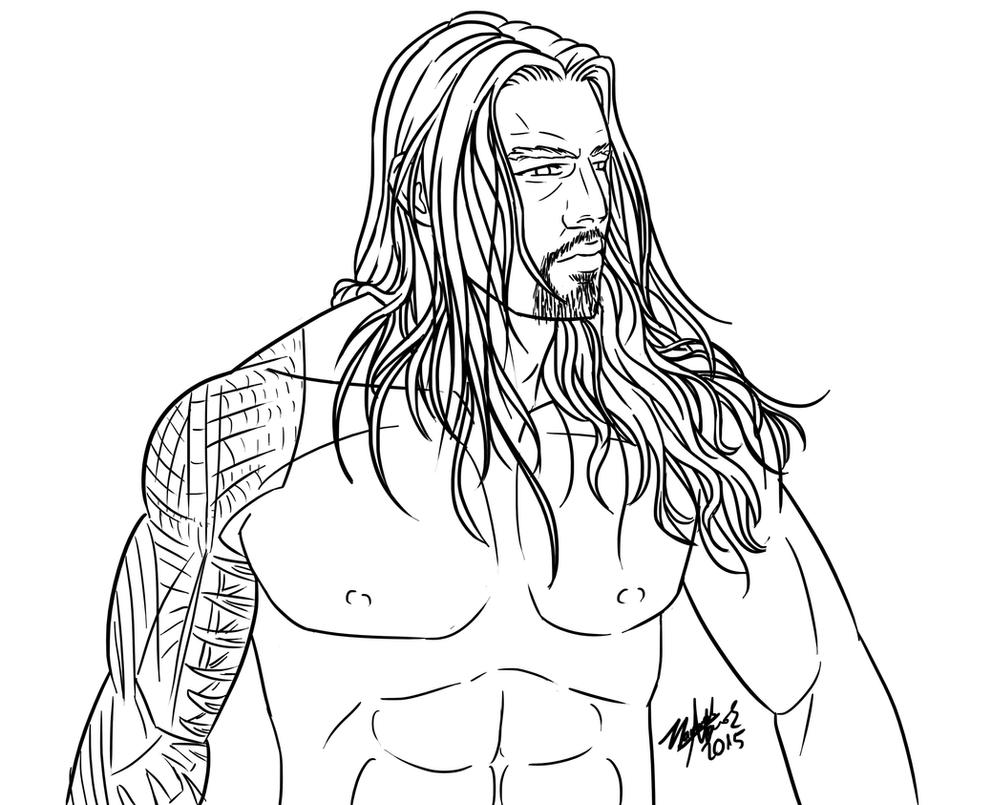 Wwe roman reigns coloring pages coloring pages for Wwe coloring pages 2015