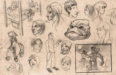 Sketching on the run by Ninja-raVen