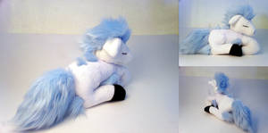 Sleeping Shiny Ponyta Plushie by Cutie-Star