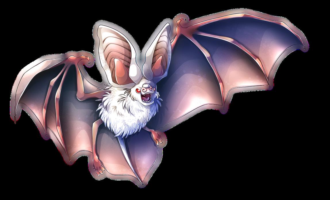 Escaped Albino Grey Long-Eared Bat by ArcaneAvis