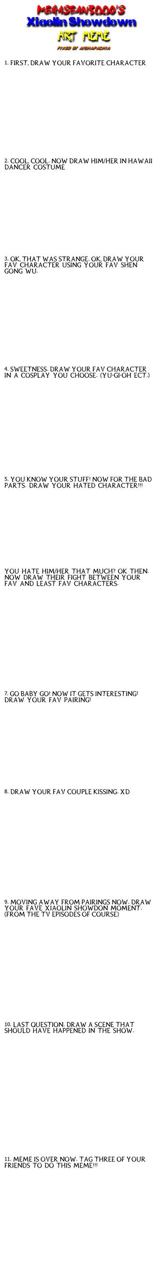 Xiaolin Showdown Art Meme by megasean3000