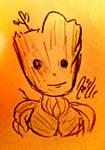 Baby Groot Portrait Sketch by NoelNoelle