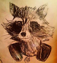 Rocket realism sketch by NoelNoelle
