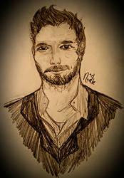 Chris Pratt realism sketch by NoelNoelle