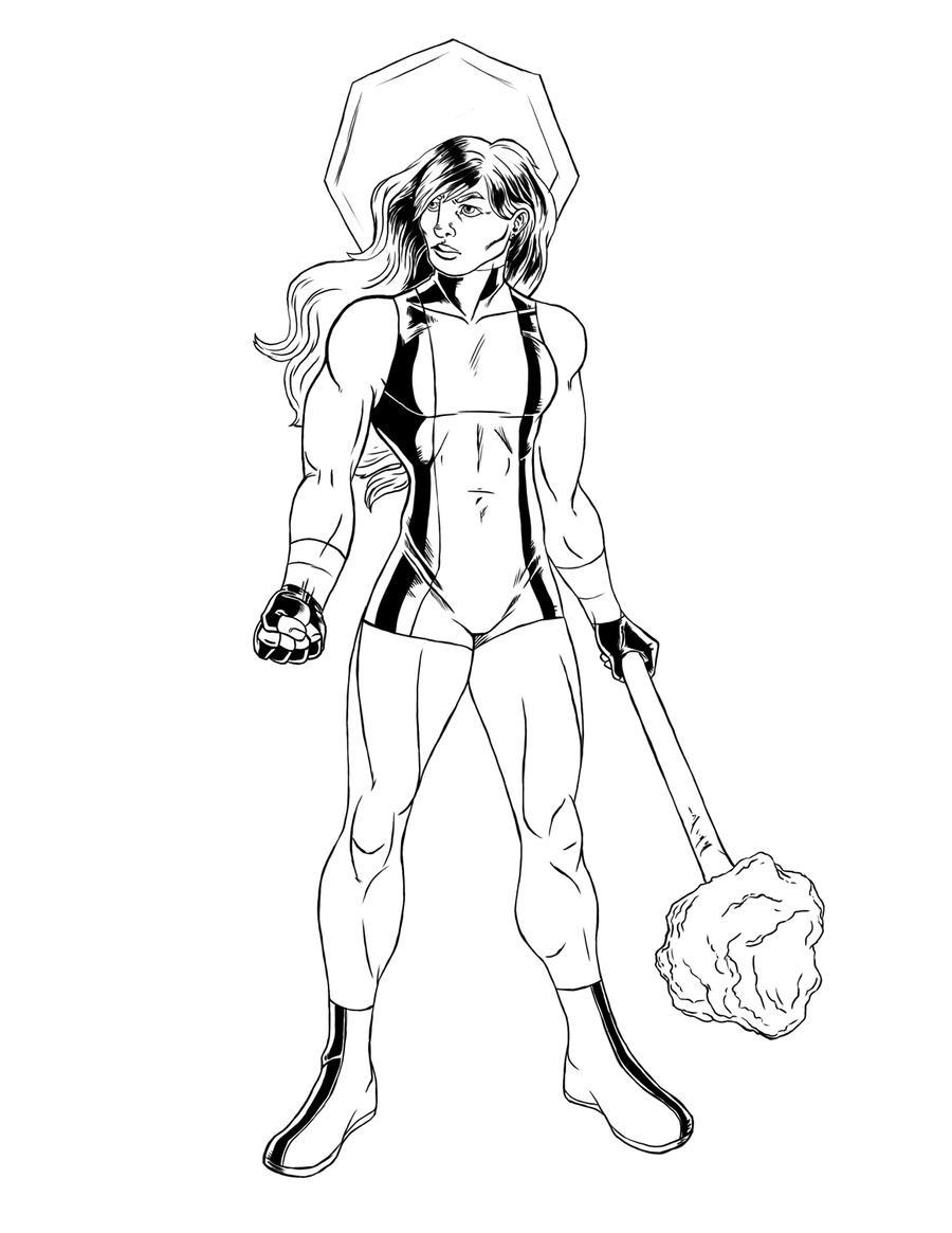 She hulk lines by ravendark82 on deviantart for She hulk coloring pages