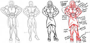 Big muscle girl by Benin6man Correction by ravendark82