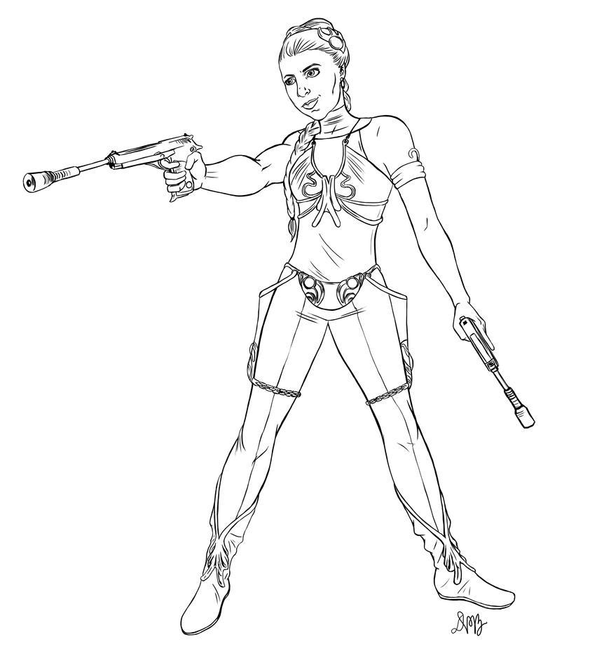 Princess leia coloring pages printable - Princess Leia By Ravendark82 On Deviantart