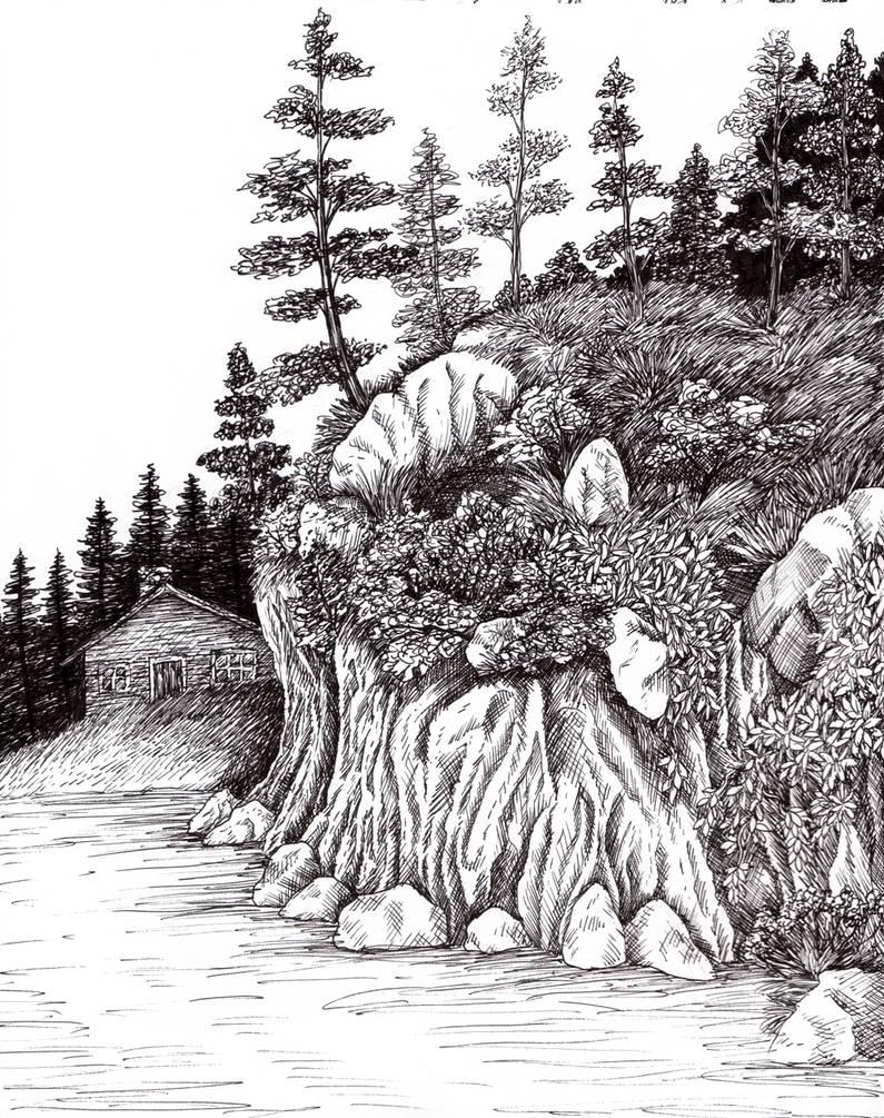Pen and Ink landscape 1